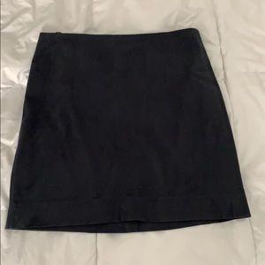 J Crew Navy Suede Skirt